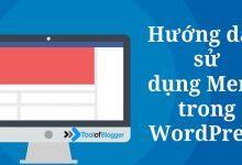 Hướng dẫn chỉnh sửa menu trong wordpress