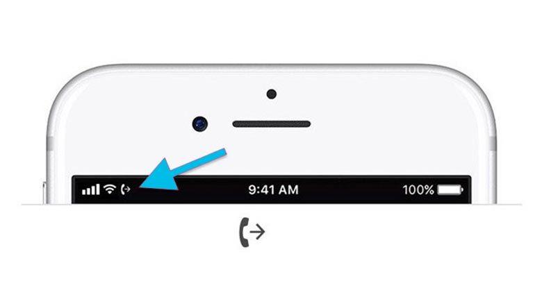 Biểu tượng chuyển hướng cuộc gọi trên ios