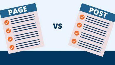Sự khác nhau giưa page và post