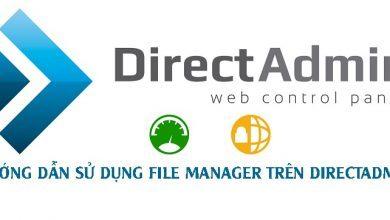 Hướng Dẫn Sử Dụng File Manager Trên DirectAdmin