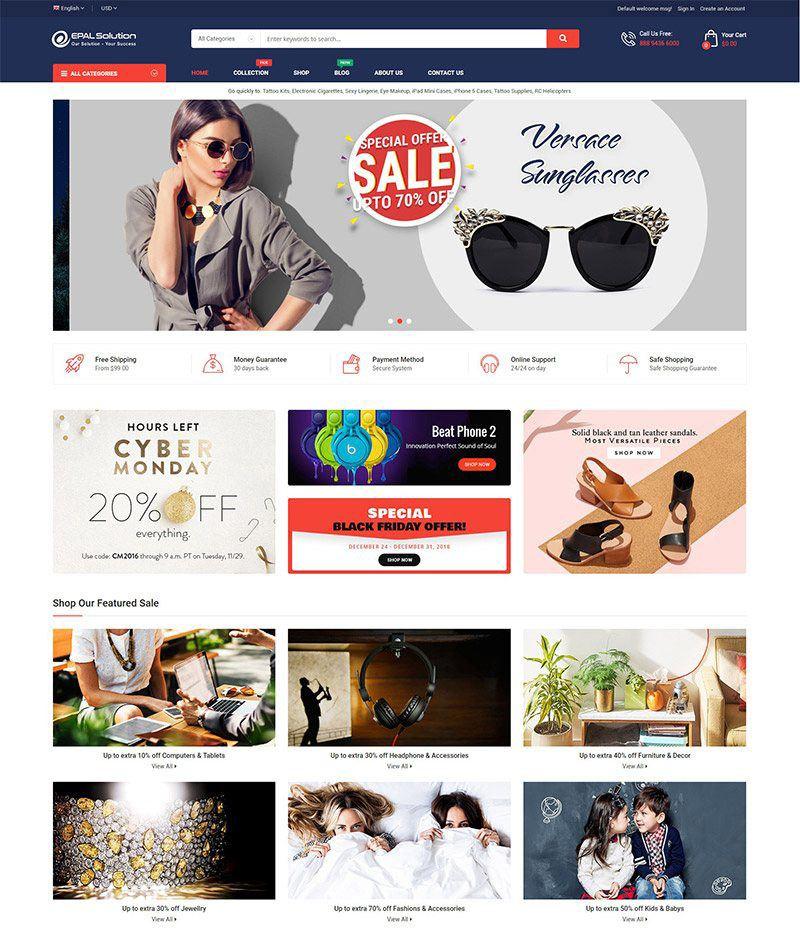 Tổng Hợp Các Mẫu Website Thương Mại Điện Tử Đẹp