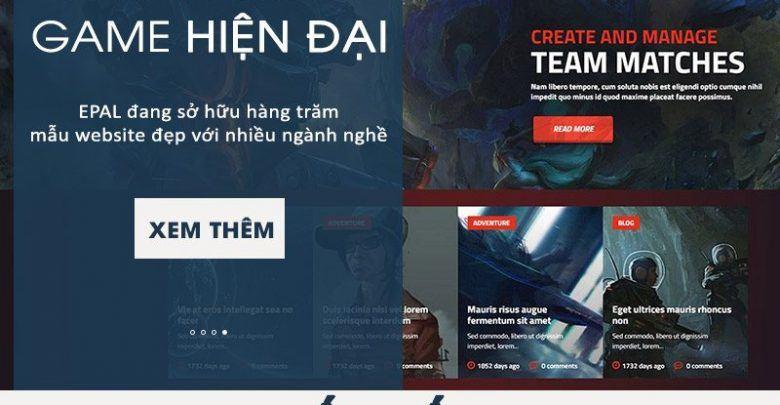 Mẫu Website Game Đẹp Và Chuyên Nghiệp