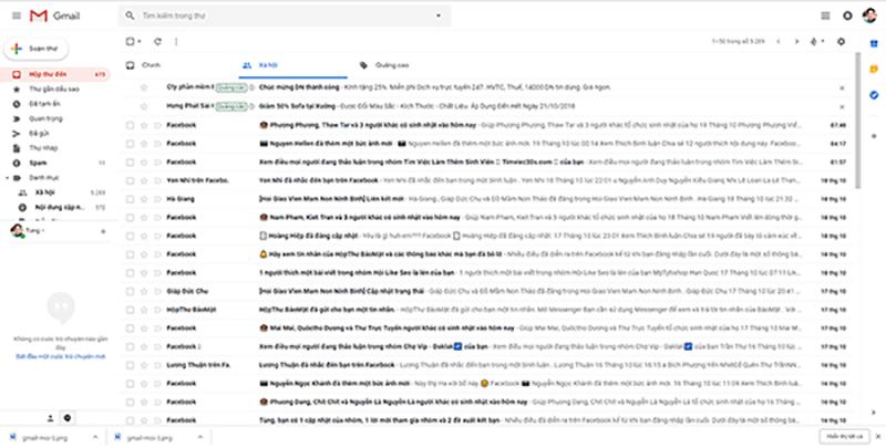 Giao diện Gmail mới