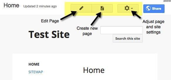 Thiết lập giao diện cho google sites