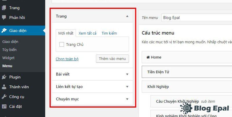 Huong-dan-tao-va-chinh-sua-menu-trong-website-wordpress-4