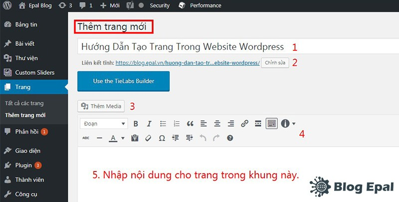 Nhap-noi-dung-cho-page-trong-website-wordpress