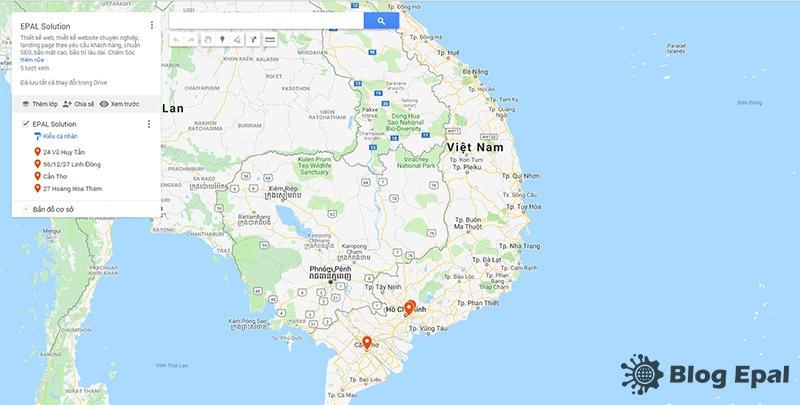 Nhúng google vào website từ ứng dụng google map