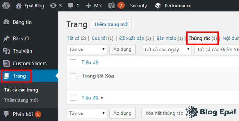 Thung-rac-chua-page-da-xoa-trong-website-wordpress
