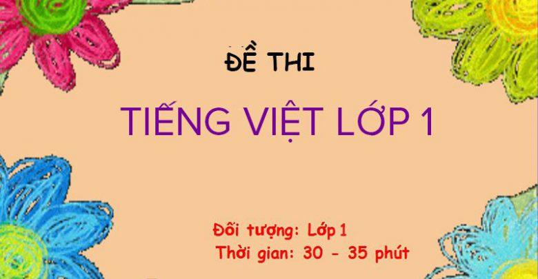 Đề thi Tiếng Việt lớp 1