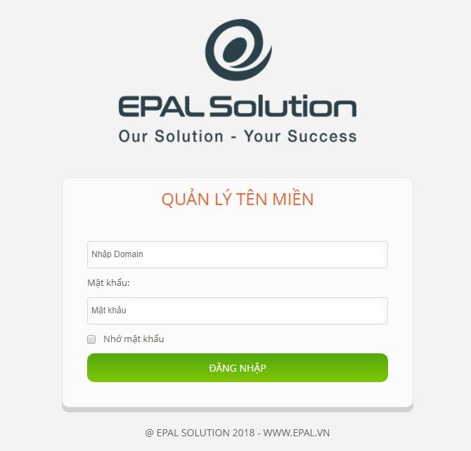Quản lý tên miền EPAL Solution