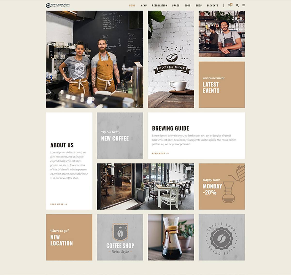Thiết kế website cửa hàng cà phê tại EPAL Solution