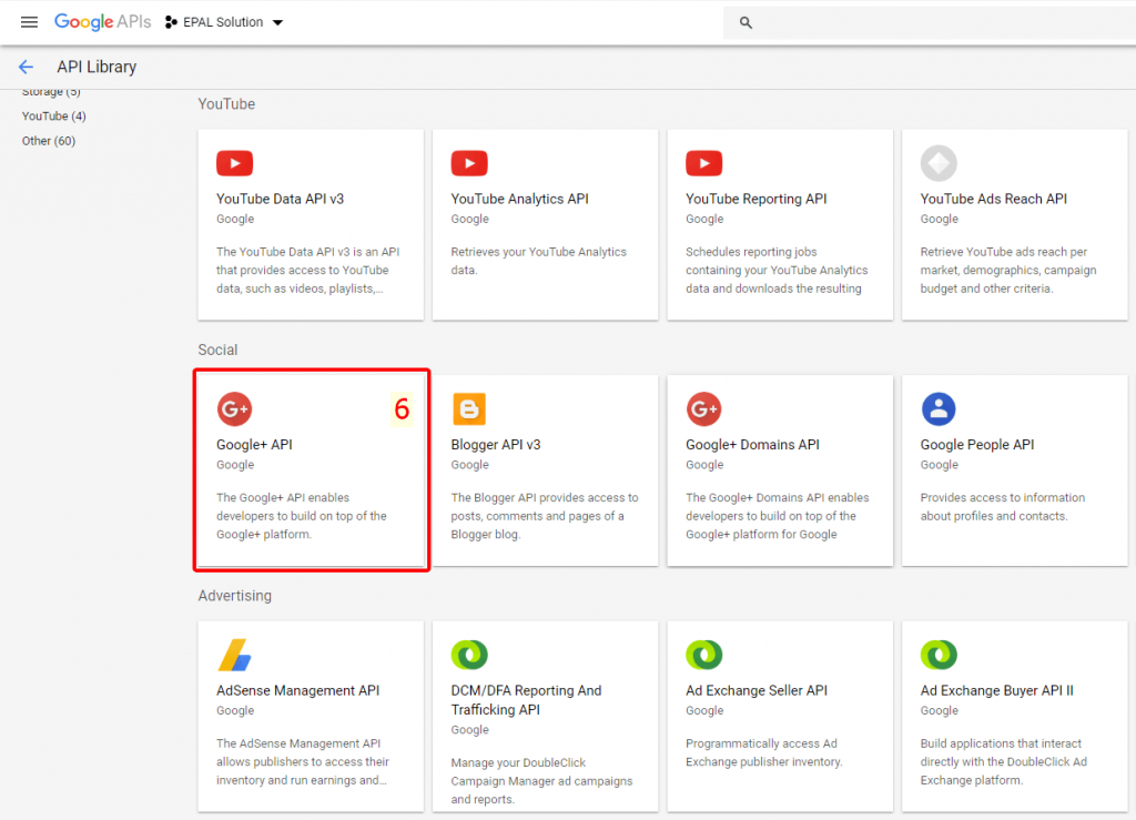 Chọn Ứng Dụng Google API