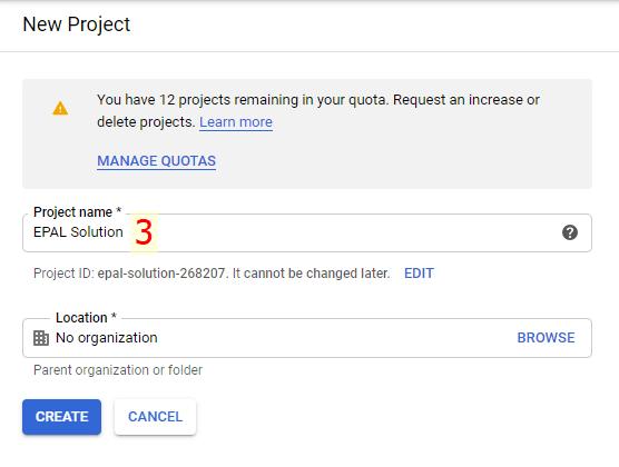 Đặt Tên Cho Project Google API