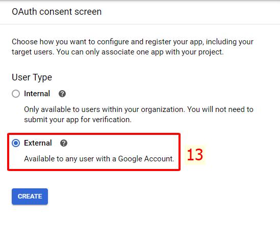 External Oauth Consetn Screen Google API